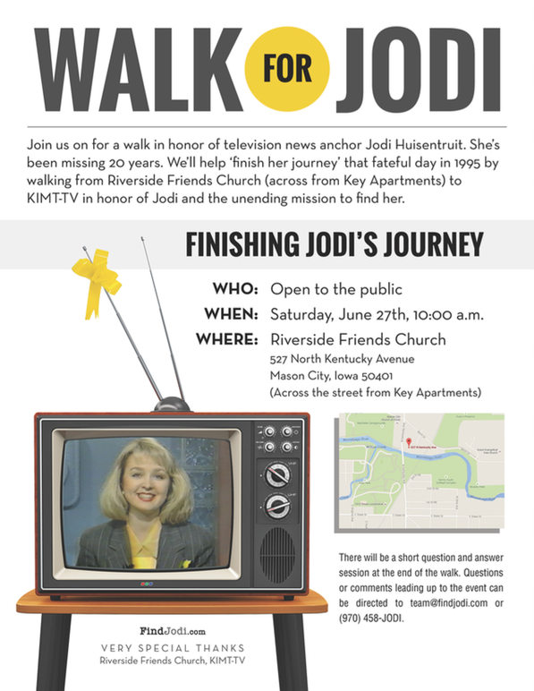Walk For Jodi Huisentruit